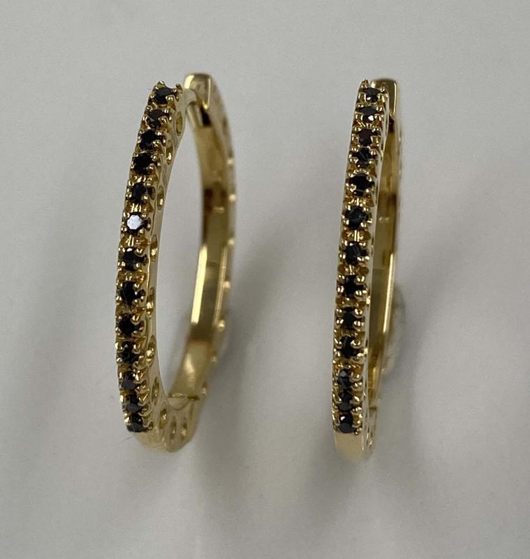 Diamantcreoler med svarta Diamanter.