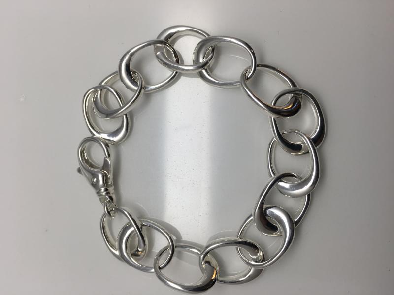 Blankt armband i silver