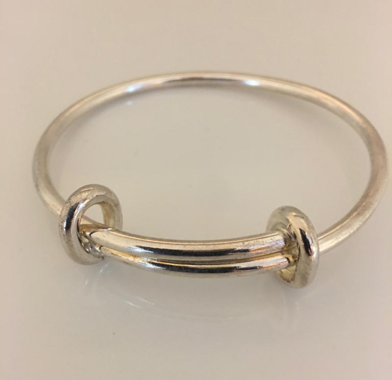 Stel armring i silver med rörlig storlek