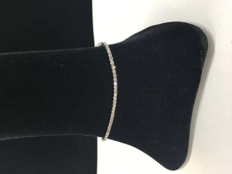 """Tennisbracelet"" Armband i vitt guld 18k med brilliantslipade diamanter 2,05 ct"