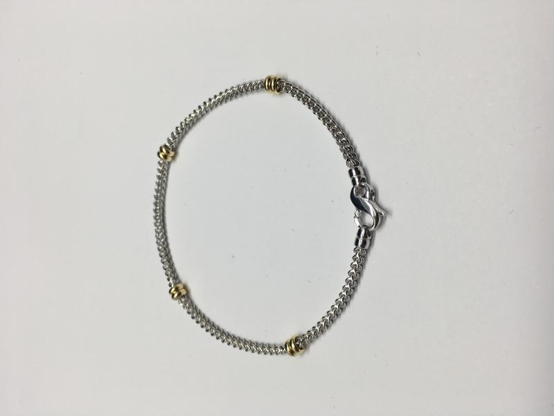 Armband i vitt och rött guld 18 k