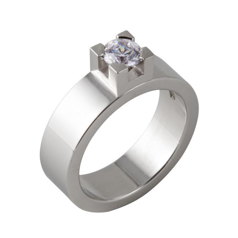 Kraftfull diamantring