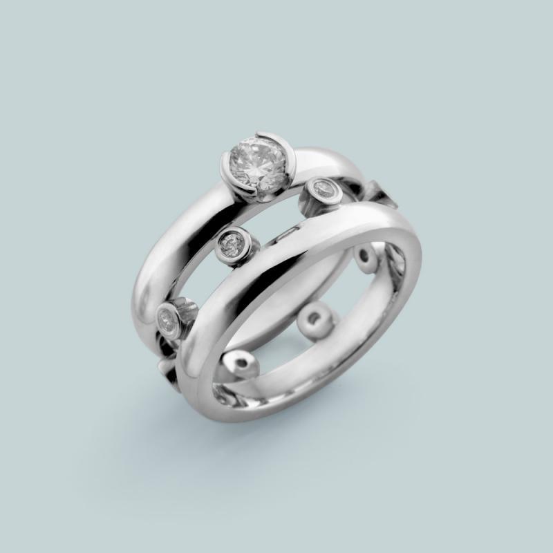 Kombination av två ringar