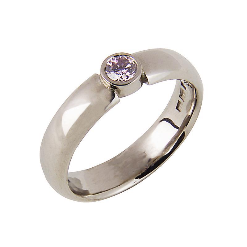 Ring med rosa diamant