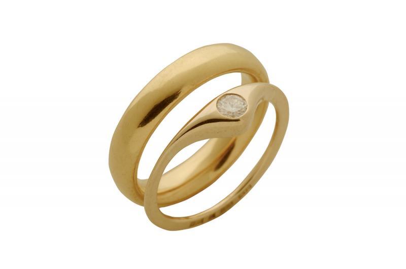 Läppring med slät ring