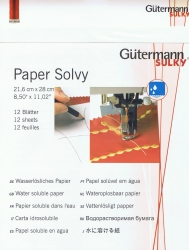 Paper Solvy, vattenlösligt papper