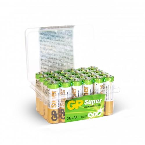 GP Super Alkaline AA-batteri, 15A/LR06, 24-pack
