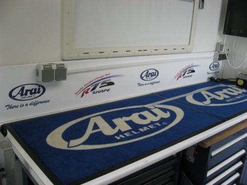 Floor Mat Arai Helmets 58x100cm for Workshop