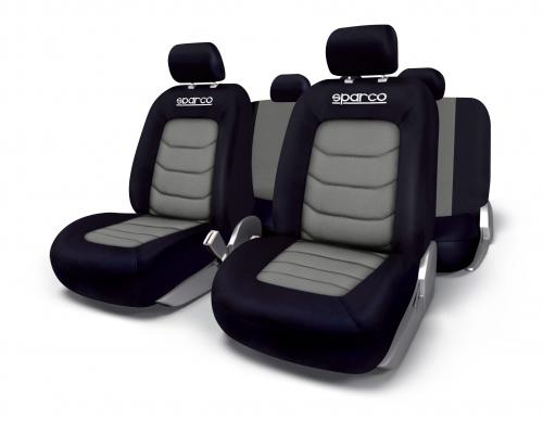 Sparco Universal Seat Cover Set Polyester+Mesh Grey
