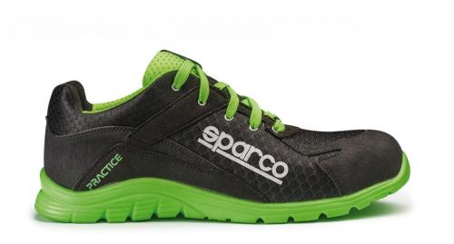 Safety Shoes  Sparco Practice Black/Green