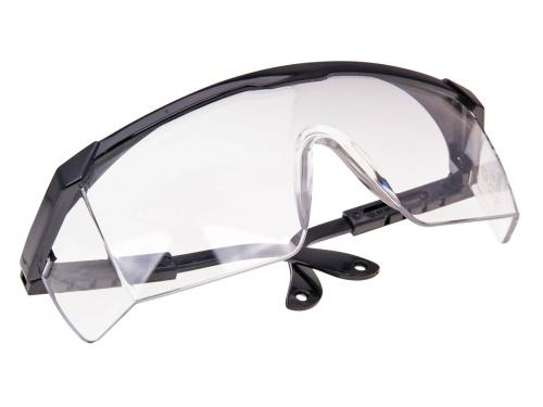 Safety glasses with clear glass