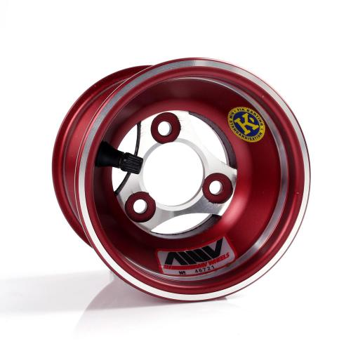 Frontwheel for hub, 110 mm aluminium red, AMV