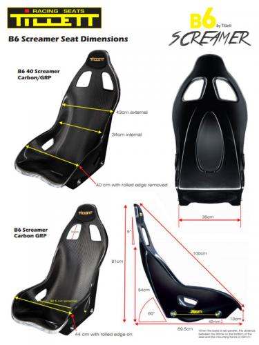 Racing seat B6 Screamer-44 (FIA Approved) composite material