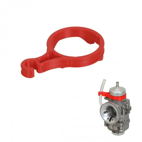 Fuel Line Support for 30mm Dell'Orto Carburetor Red