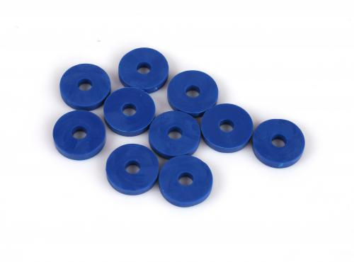 Gummibricka 6x20mm Blå 10-Pack