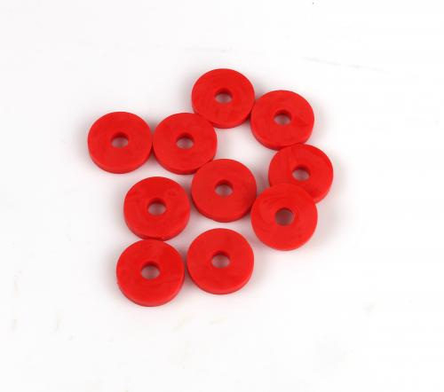 Rubber Washer 6x20mm Red 10-Pack