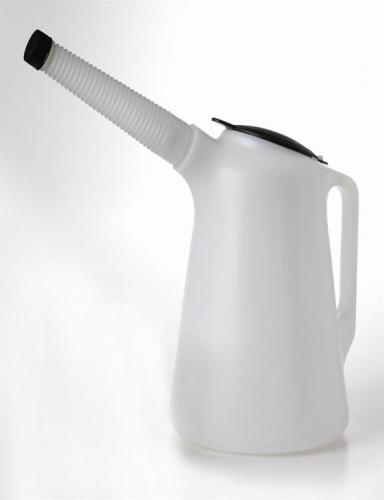 Messuring carafe 5 lit. w. corrugated tube