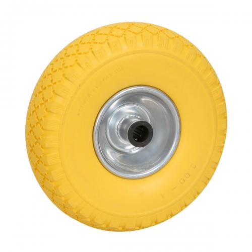 Solid wheel 260x85mm, for kart trolley - Yellow colour