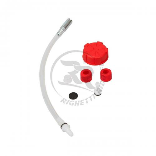 Kit for fueltank with red cap and suction unit, 3-10 L
