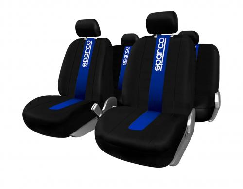 Sparco Universal Seat Cover Kit Polyester Black/Blue