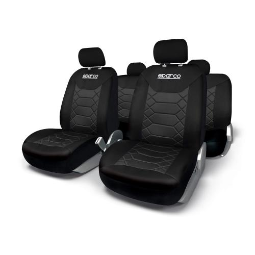 Sparco Universal Seat Cover Set Polyester Black