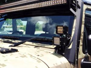 Rigid Industries Jeep Wrangler A-stolpefäste Dually, modell 3