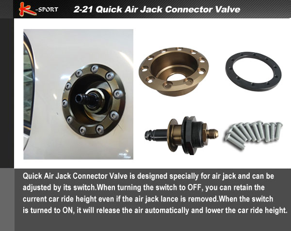 Air Jack Connector Valve