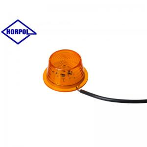 HORPOL Optimal LED Sidomarkeringsljus Ø71mm (Orange ljus)