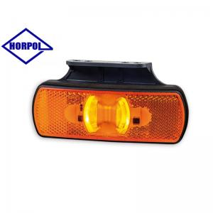 HORPOL LED Sidomarkeringsljus 122x44mm med fäste (Orange ljus)