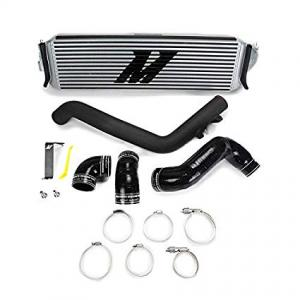 Mishimoto Honda Civic Type R Prestanda Intercooler Kit, 2017+, Silver Core, Svarta rör