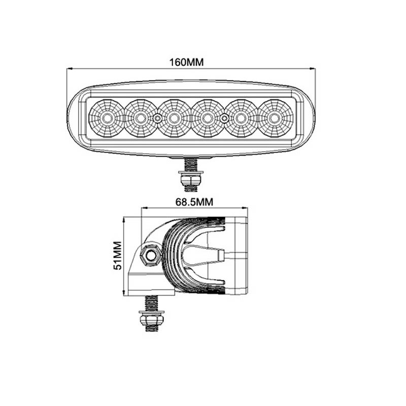 VikLight 18W LED Arbetslampa