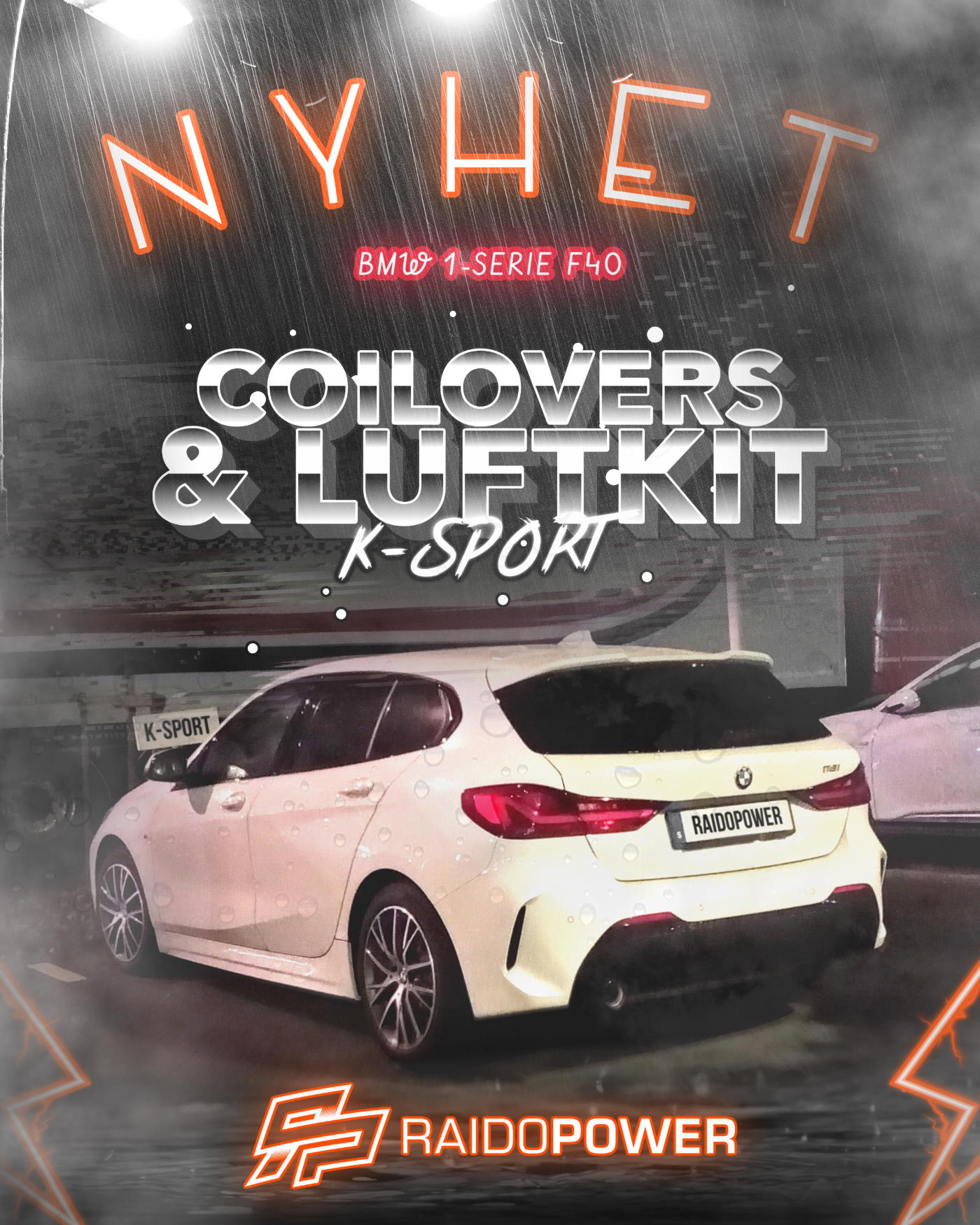 K-sport Coilovers Luftkit Nyhet BMW F40