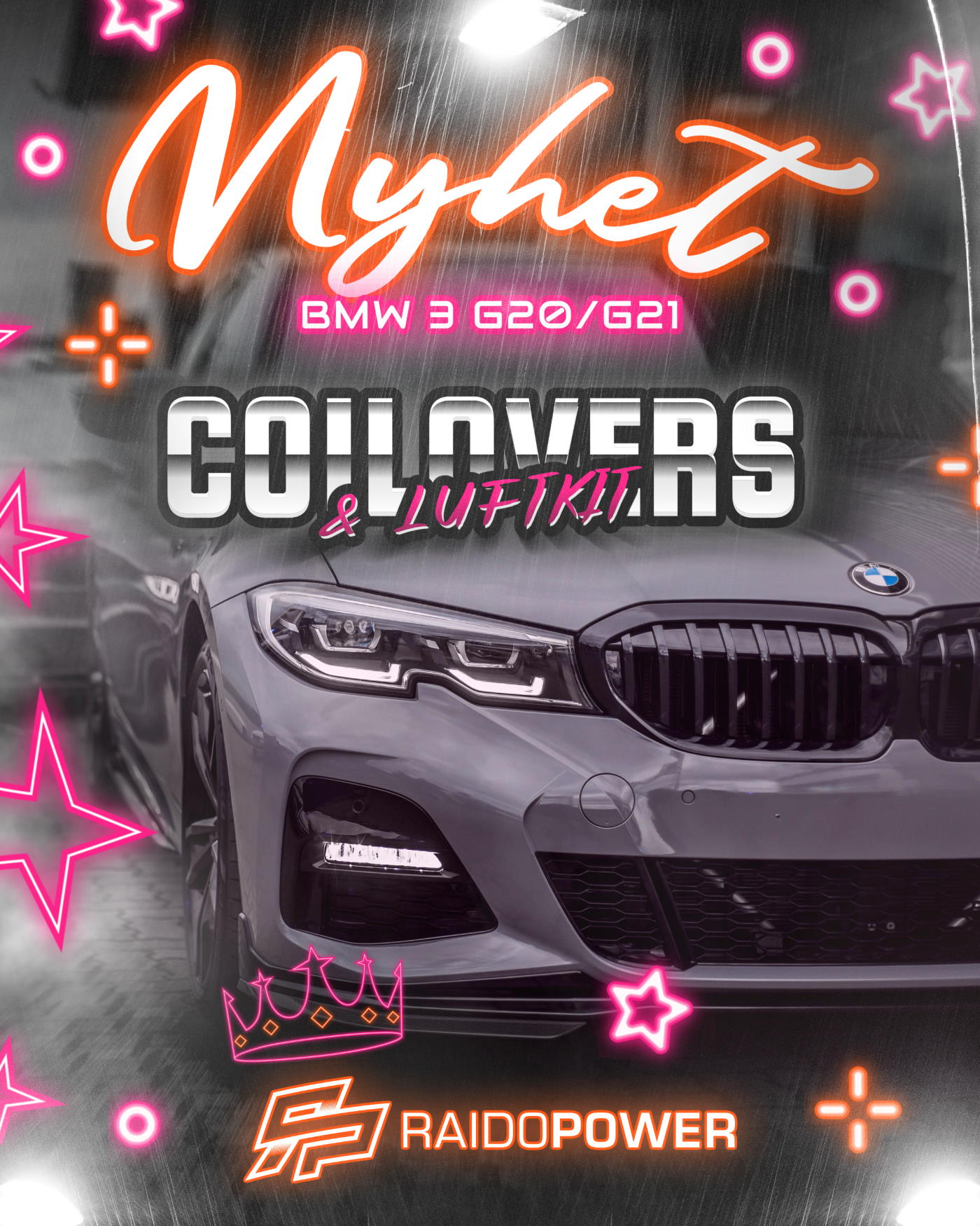 K-sport Coilovers Luftkit Nyhet BMW G20 G21