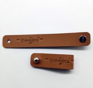 Lädermärke Handgjord 15mm