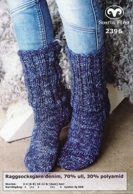 Raggsocksgarn denim