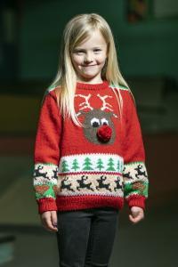 Barntröja med julmotiv