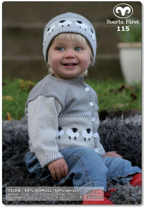 Baby- och småbarnskofta + mössa med får