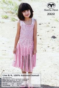 Lisa - Virkad Barn klänning