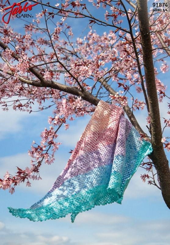 Pastellsommar - enkel virkad sjal
