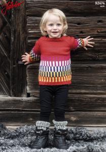 Skyskrapa - enkel och färgglad barntröja