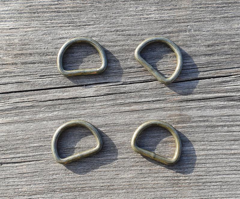 D-Ring Metall 23 mm Grön-Brun 4 Pack