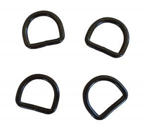 D-Ring Metall 25 mm Svart 4 Pack