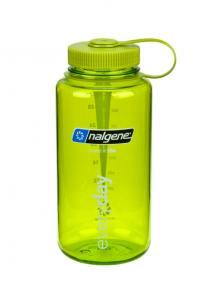 Nalgene Wide-Mouth Bottle 1 L Ljusgrön