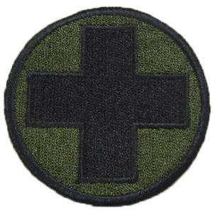 Snigel Sjukvårdsmärke Svart/Militärgrön