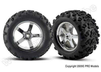 Tires & wheels, assembled, glued (Hurricane chrome