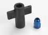 Antenna crimp nut, aluminum (blue-anodized)/ anten
