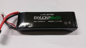 Exylion Power 11.1V 4200mah 40C softcase Traxxas