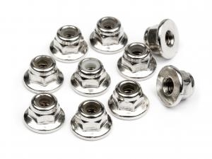 FLANGED LOCK NUT M3 (10pcs)