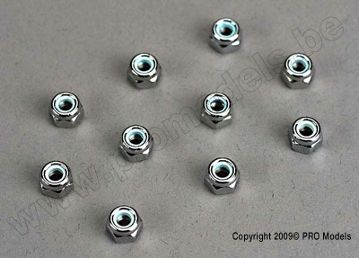 Nut set, lock nuts (3mm (11) and 4mm(7)) & washer