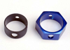 Brake adapter, hex aluminum (blue)